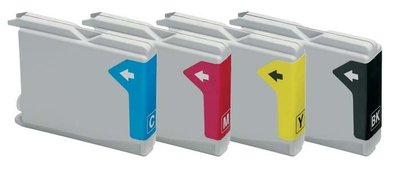 Huismerk Brother inktcartridges LC-1000 set 4 stuks