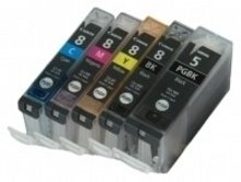 Huismerk Canon pixma MP600 inktcartridges CLI-8 / PGI-5 set (met Chip)