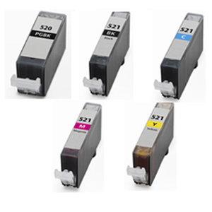 Huismerk Canon pixma mx860 inktcartridges CLI-521 / PGI-520 set (met Chip)