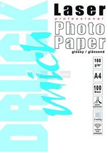 Fotopapier voor laser printer A4 160g/m glans 100 vel