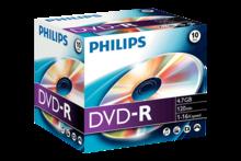 PHILIPS DVD-R 4.7 GB 10 STUKS in jewel case