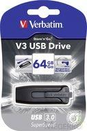 Verbatim USB-Stick V3 Store n Go USB3.0 64 GB grijs