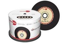 Primeon CD-R 700 MB Black Vinyl 50 stuks