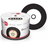 Primeon CD-R 700 MB Inkjet Printable Black Vinyl 50 stuks