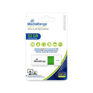 MediaRange USB flash drive, color edition, green, 32GB