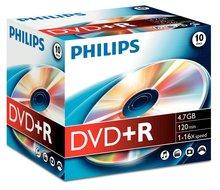 Philips DVD+R 4.7 GB 10 stuks in jewel case