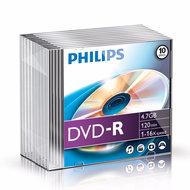 Philips DVD-R 4.7 GB 10 stuks in slimcase