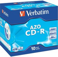 Verbatim CD-R 700 MB AZO Crystal 10 stuks jewel case