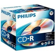 Philips CD-R 700 MB 10 stuks jewel case