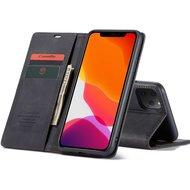"""CaseMe Retro Wallet Slim voor iPhone 12 / 12 Pro (6.1"""") Zwart"""