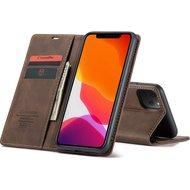"""CaseMe Retro Wallet Slim voor iPhone 12 Pro Max (6.7"""") Bruin"""