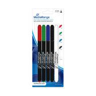 MediaRange CD/DVD/BD Marker 4 stuks + Eraser