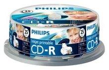 Philips CD-R 700 MB Inkjet Printable 25 stuks