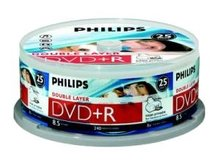 Philips DVD+R DL 8.5 GB Inkjet Printable 25 stuks