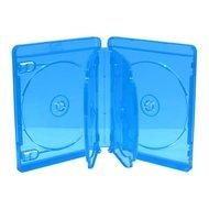 Blu-Ray  doosjes 6 disc transparant blauw 3 stuks 22mm