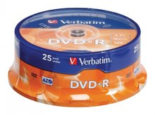 Verbatim DVD-R 4.7 GB Matt Silver 25 stuks