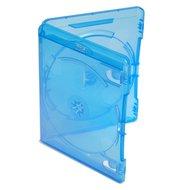 Amaray Blu-Ray dubbel doosjes transparant blauw 5 stuks 15mm