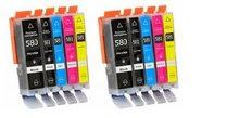 Canon pixma TS6250 inktcartridges CLI-581 XL / PGI-580 XL set 10 stuks