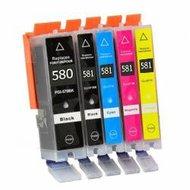 Compatible Canon inktcartridges CLI-581 XL / PGI-580 XL set 5 stuks